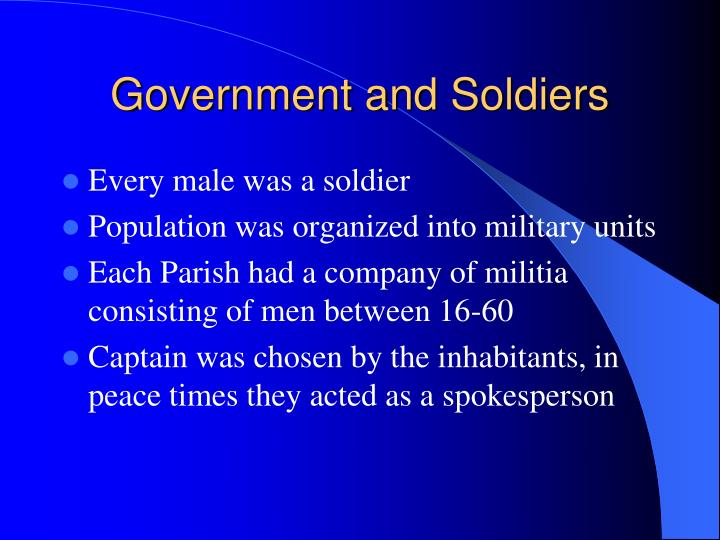 Government and Soldiers