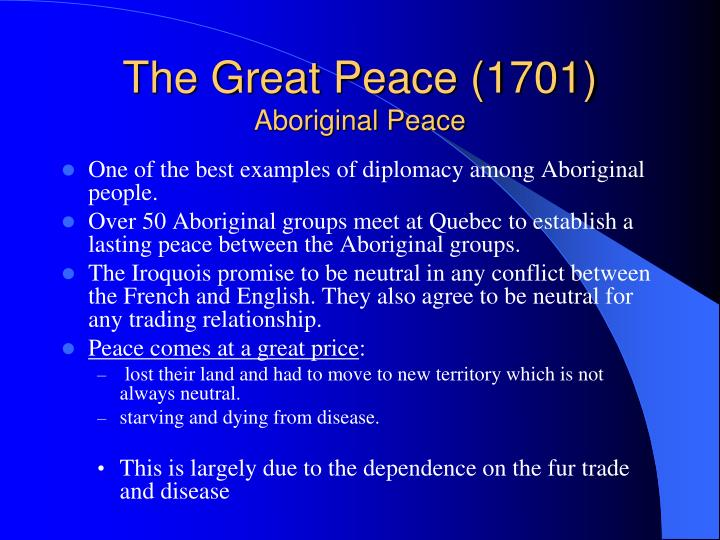 The Great Peace (1701)