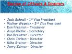 election of officers directors
