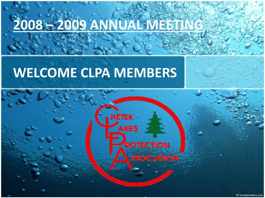 welcome clpa members l.