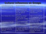 cultural influences on groups