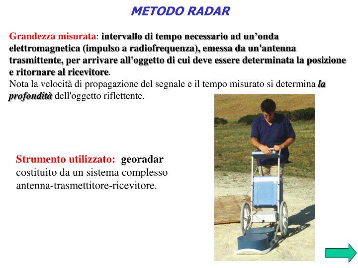 METODO RADAR