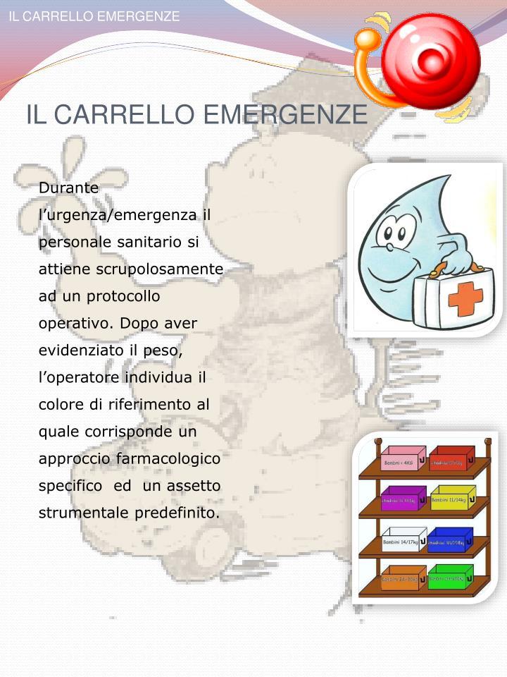 IL CARRELLO EMERGENZE
