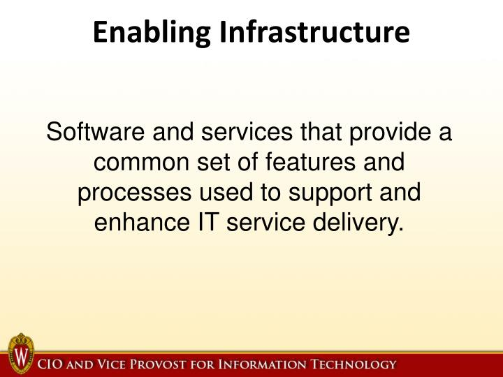 Enabling Infrastructure