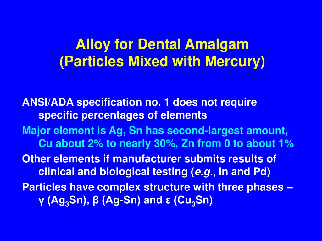 Alloy for Dental Amalgam