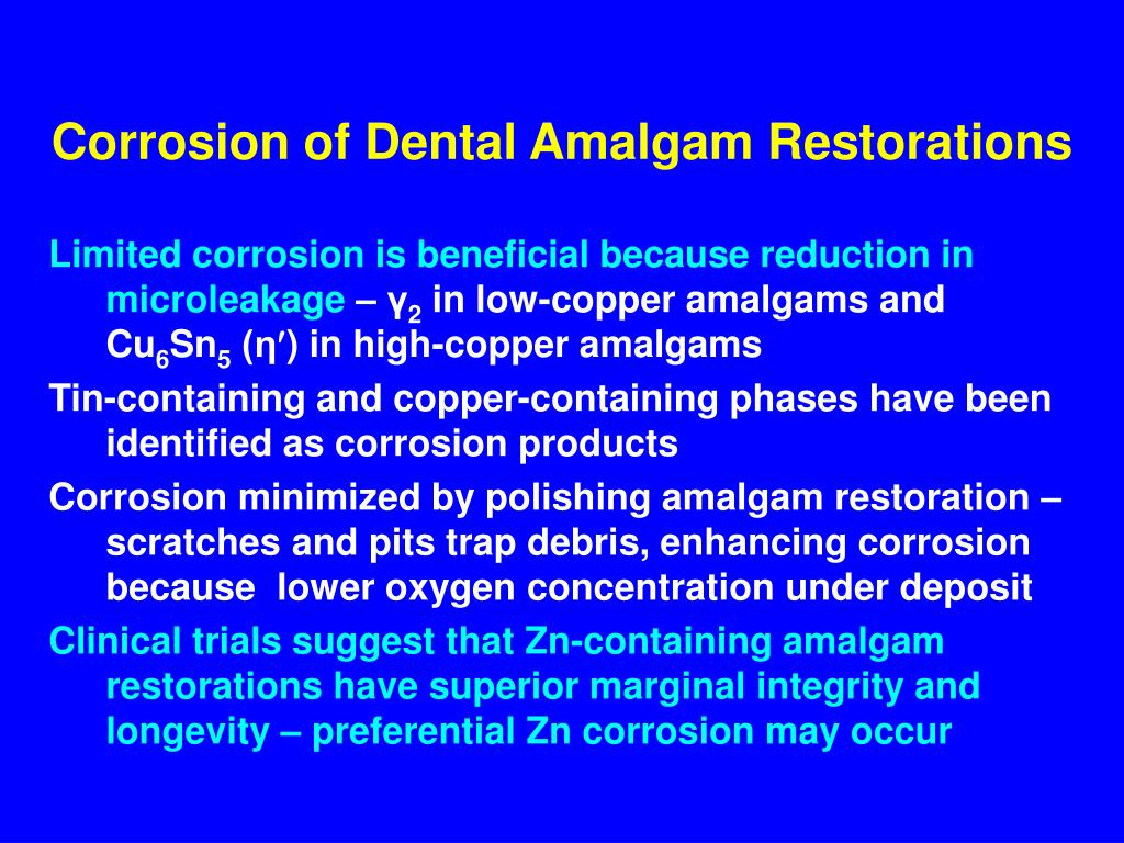 Corrosion of Dental Amalgam Restorations