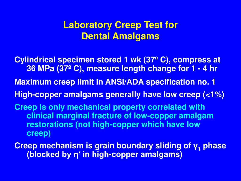 Laboratory Creep Test for