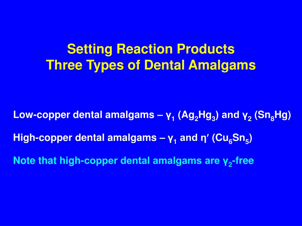 Setting Reaction Products