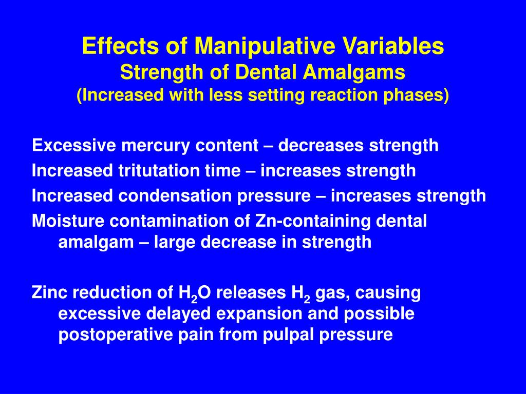 Effects of Manipulative Variables
