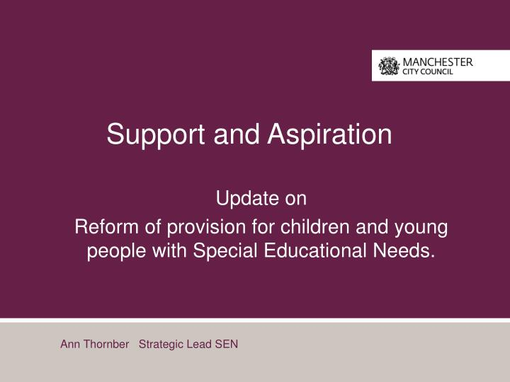 support and aspiration n.