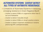 automated systems cannot detect all types of antibiotic resistance