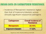 indian data on carbapenem resistance