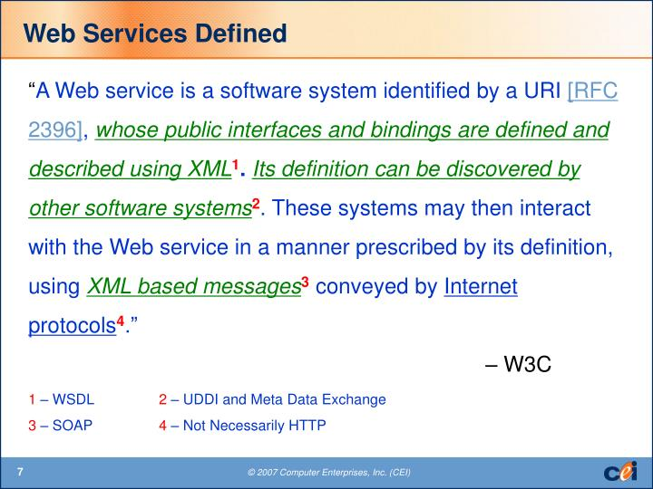 Web Services Defined
