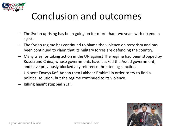 Conclusion and outcomes