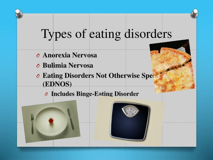 an analysis of the subject of eating disorders such as anorexia and bulimia Types of eating disorders an eating disorder is commonly defined as an all-consuming desire to be thin and/or an intense fear of weight gain the most common eating disorders among adolescents are anorexia, bulimia and binge-eating disorder.
