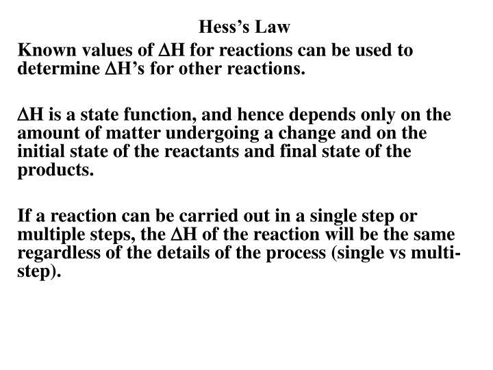 Hess's Law