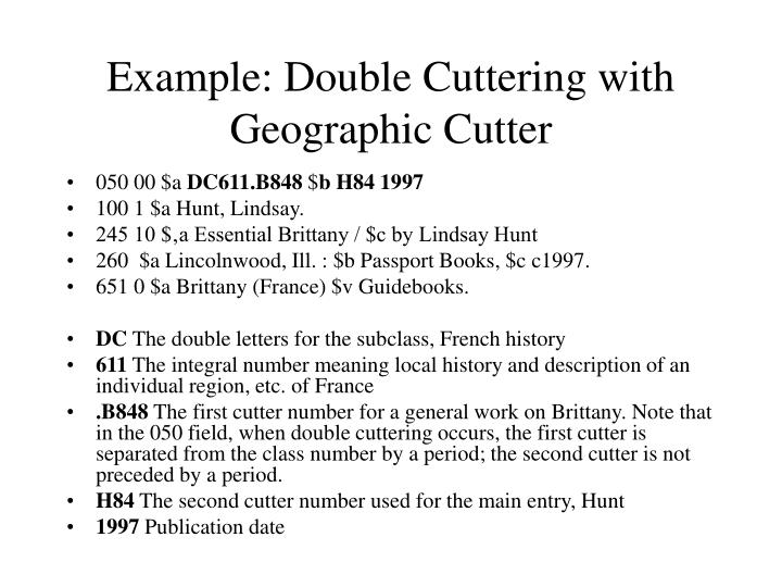 Example: Double Cuttering with Geographic Cutter