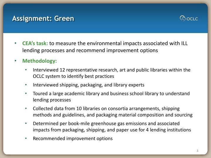 Assignment green