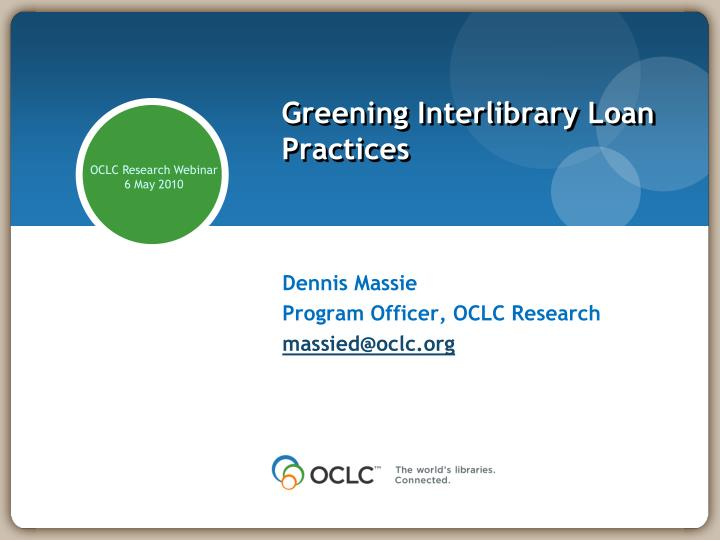 Greening interlibrary loan practices