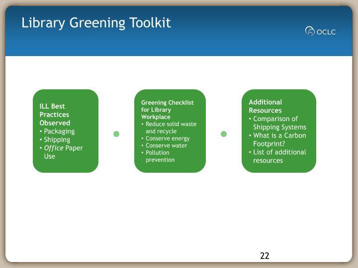 Library Greening Toolkit