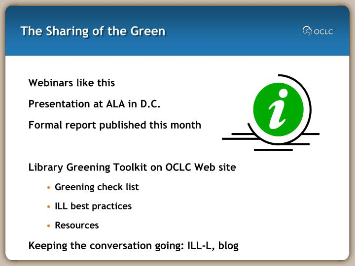 The Sharing of the Green