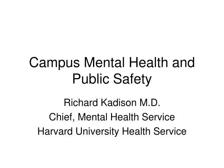 campus mental health and public safety n.