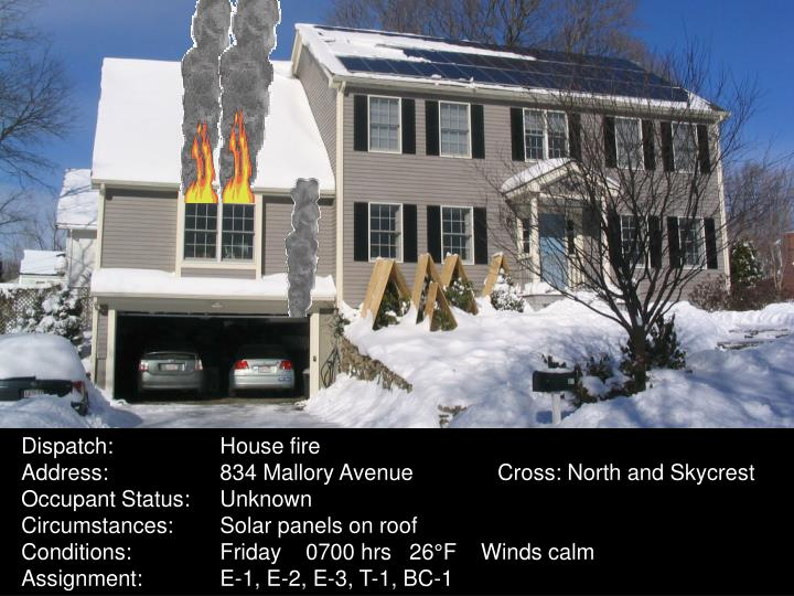 Dispatch:House fire