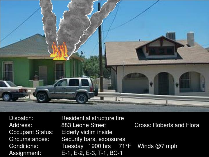 Dispatch:Residential structure fire