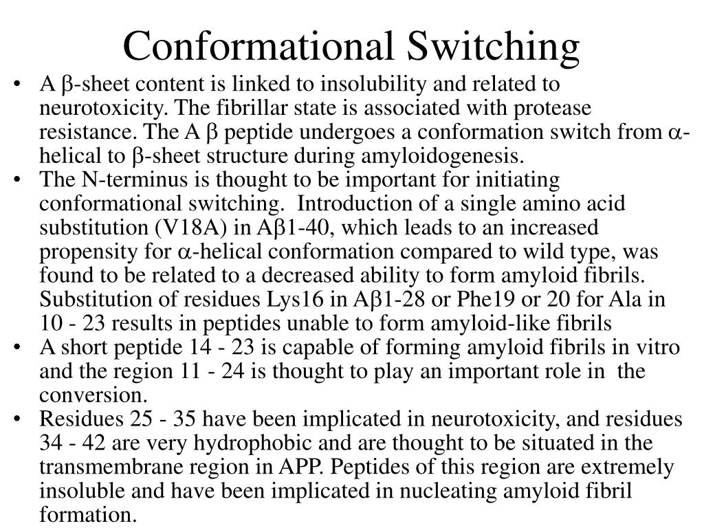 Conformational Switching