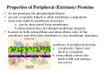 properties of peripheral extrinsic proteins
