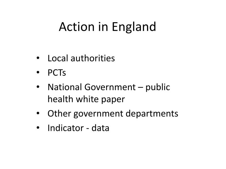 Action in England
