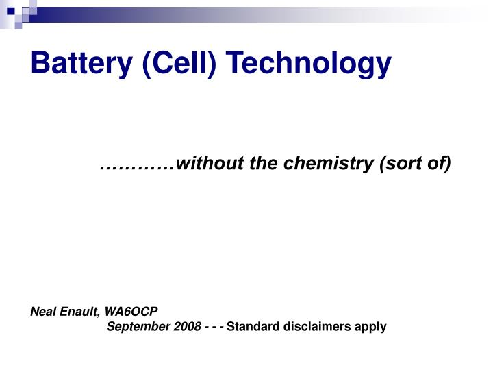 battery cell technology n.