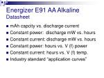 energizer e91 aa alkaline datasheet