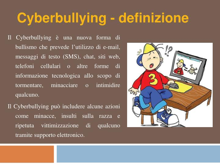 Cyberbullying - definizione