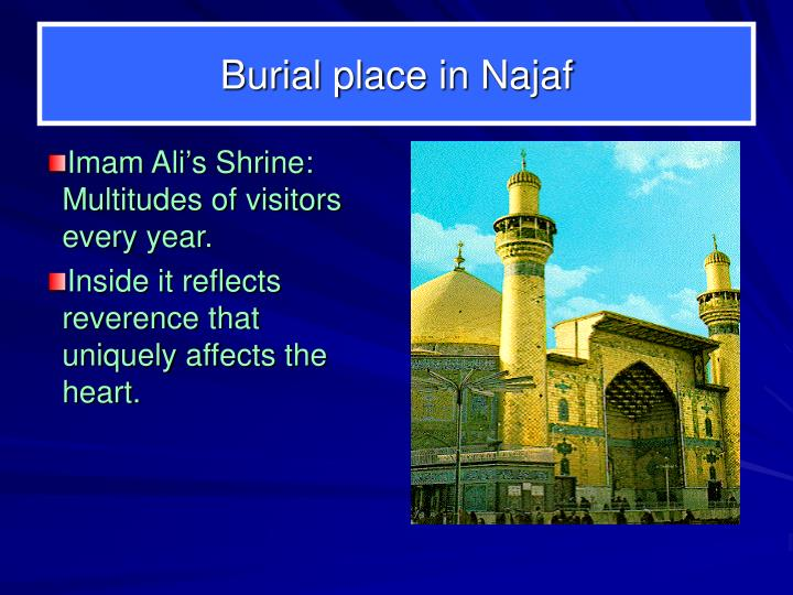 Imam Ali's Shrine:  Multitudes of visitors every year.