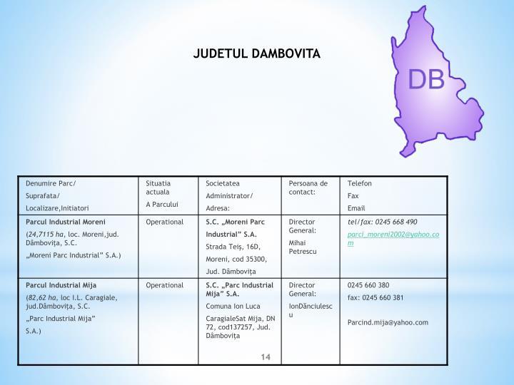 JUDETUL DAMBOVITA