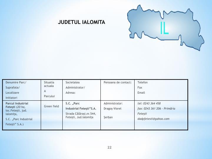 JUDETUL IALOMITA