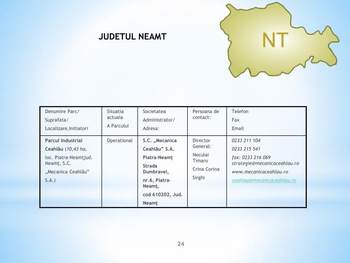 JUDETUL NEAMT