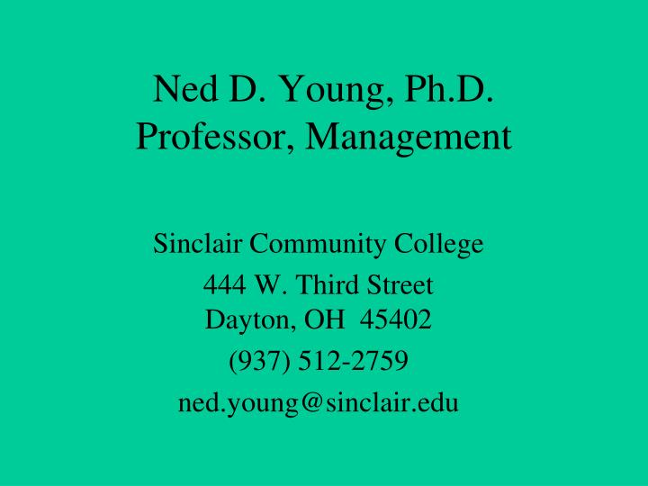 Ned D. Young, Ph.D.