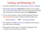 linking and mounting 5