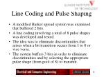 line coding and pulse shaping