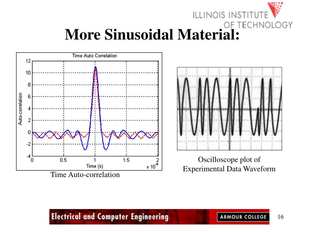 More Sinusoidal Material: