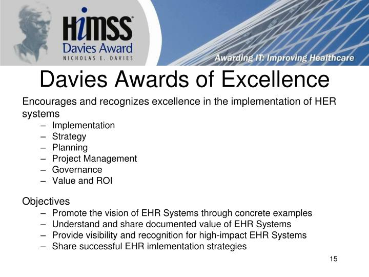 Davies Awards of Excellence
