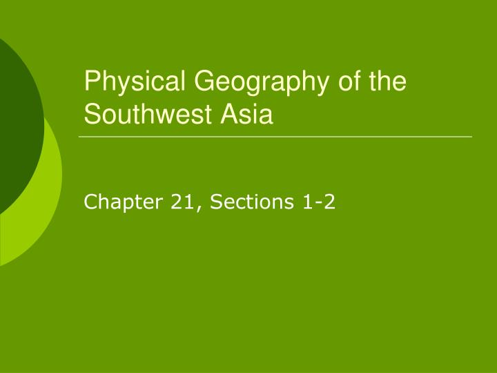 physical geography of the southwest asia n.