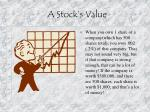 a stock s value