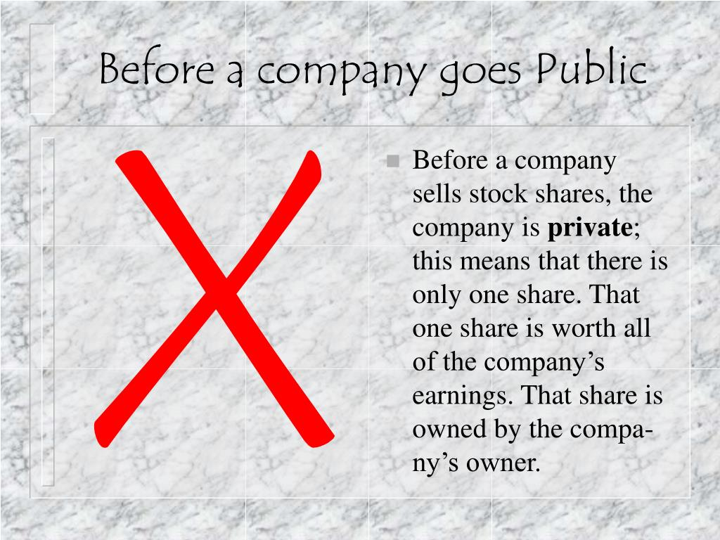 Before a company goes Public
