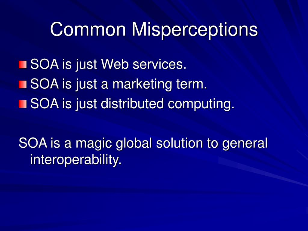 Common Misperceptions
