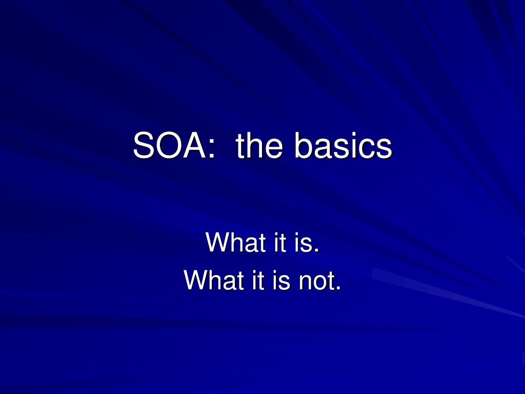 soa the basics l.
