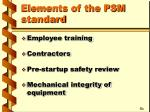 elements of the psm standard1