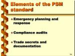 elements of the psm standard3
